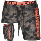 Superdry State Volley Camouflage Swim Shorts Green